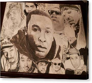 Rap Immortalized Canvas Print by Demetrius Washington
