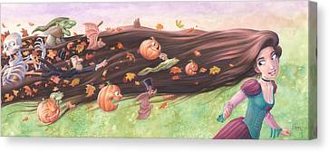 Rapunzel's Halloween Canvas Print by Richard Moore