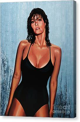 Raquel Welch Canvas Print by Paul Meijering