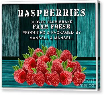 Raspberry Farm Canvas Print by Marvin Blaine