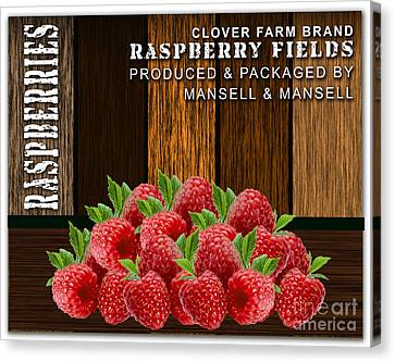 Raspberry Fields Forever Canvas Print by Marvin Blaine