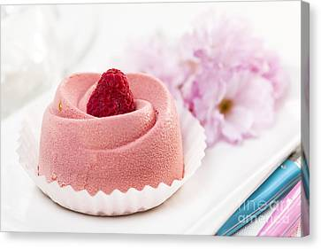 Raspberry Mousse Dessert Canvas Print by Elena Elisseeva