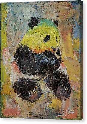 Rasta Panda Canvas Print by Michael Creese
