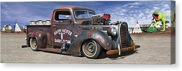 Rat Rod On Route 66 3 Canvas Print by Mike McGlothlen