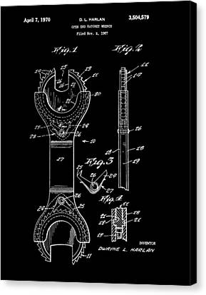 Ratchet Wrench Patent Canvas Print by Dan Sproul