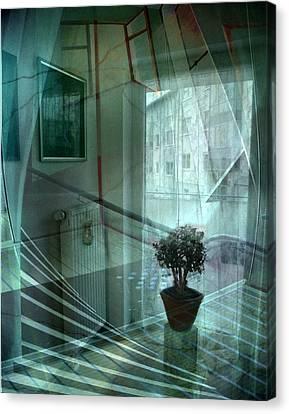 Raumkontinuum Canvas Print by Gertrude Scheffler