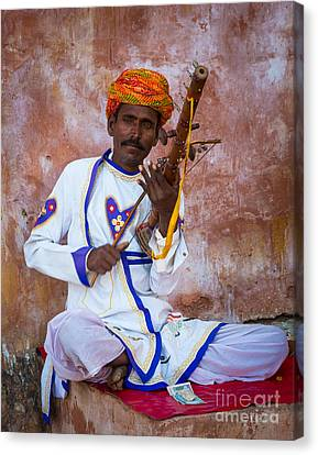 Ravanhatha Musician Canvas Print by Inge Johnsson