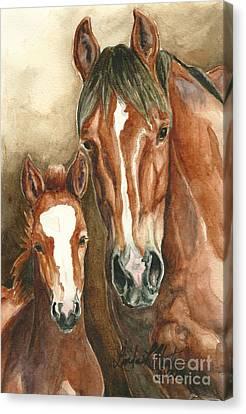 Lark And Robin Of Sand Wash Basin Canvas Print by Linda L Martin