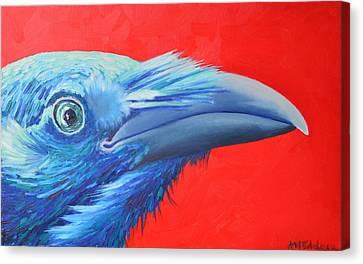 Raven Portrait Canvas Print by Ana Maria Edulescu