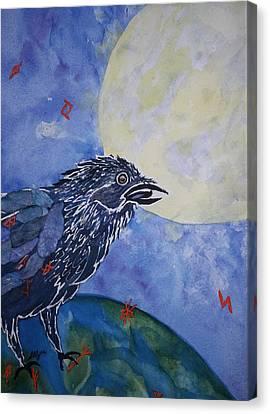 Raven Speak Canvas Print by Ellen Levinson