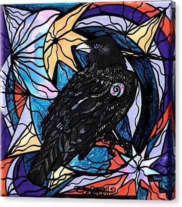 Raven Canvas Print by Teal Eye  Print Store