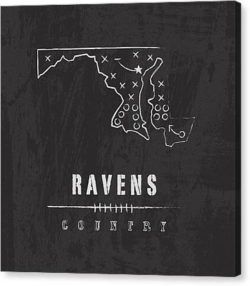 Ravens Country Canvas Print by Damon Gray