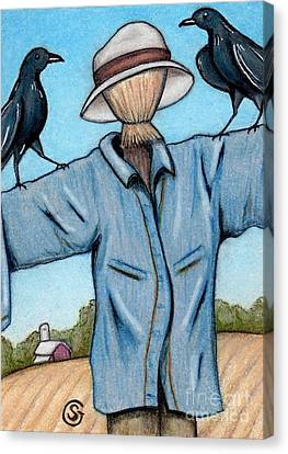 Ravens -- Like They Think This Will Work... Lol Canvas Print by Sherry Goeben