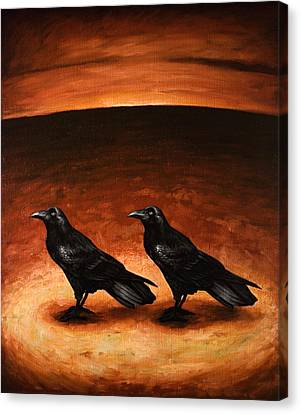Ravens Canvas Print by Mark Zelmer