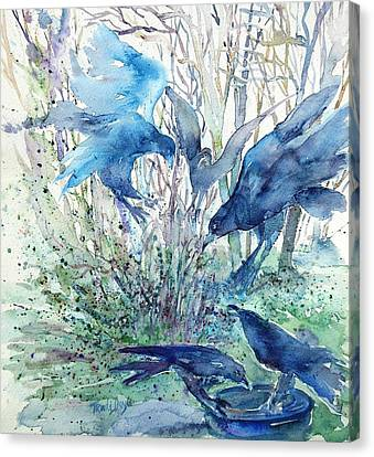 Ravens Wood Canvas Print by Trudi Doyle