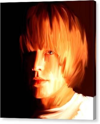 Raw Stone  Brian Jones Canvas Print by Iconic Images Art Gallery David Pucciarelli