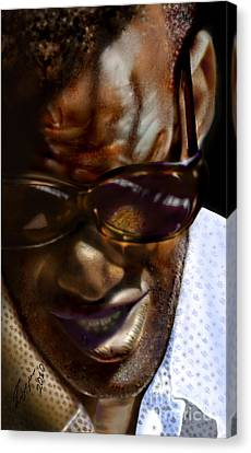 Ray Charles-beyond Sight 2 Canvas Print by Reggie Duffie