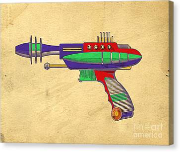 Ray Gun Patent Art Canvas Print by Edward Fielding