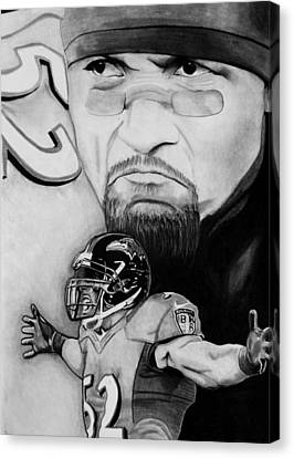 Ray Lewis Canvas Print by Jason Dunning