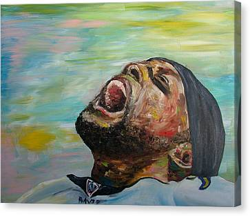 Ray Lewis Canvas Print by Simon Nickels