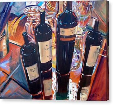 Raymond Vineyards Crystal Cellar Canvas Print by Donna Tuten