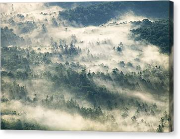 Rays Through The Clouds Canvas Print by Andrew Soundarajan