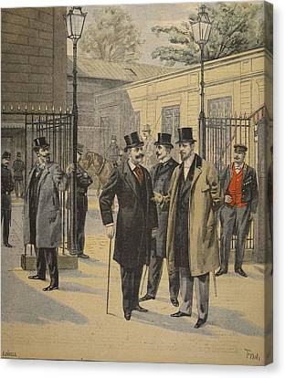 Re-entry To The Chambres Des Deputes Canvas Print by French School