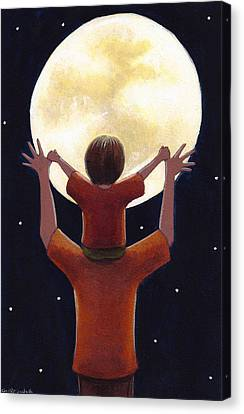 Reach The Moon Canvas Print by Christy Beckwith