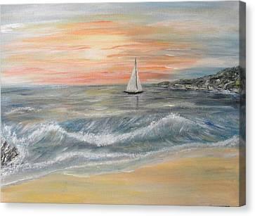 Reaching Horizon And Beyond... Canvas Print by Corina Blejan Lupascu