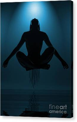 Reaching Nirvana.. Canvas Print by Nina Stavlund