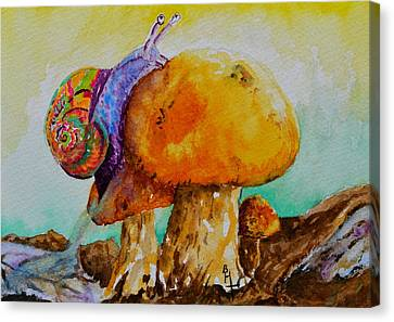 Reaching The Summit Canvas Print by Beverley Harper Tinsley