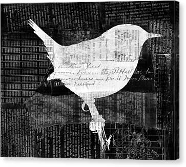 Reader Bird Canvas Print by Georgia Fowler