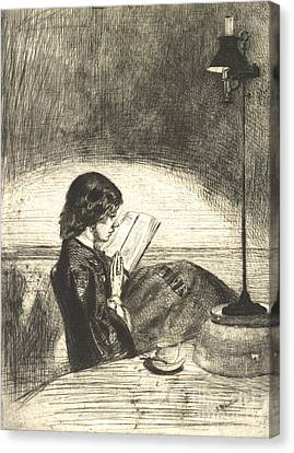 Reading 1859 Canvas Print by Padre Art