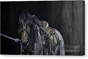 Ready And Willing Canvas Print by Joni Beinborn