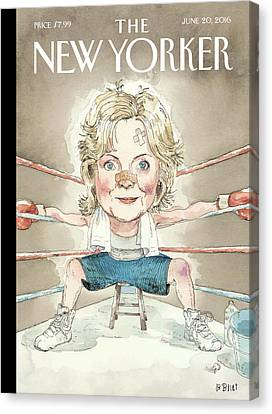 Ready For A Fight Canvas Print by Barry Blitt