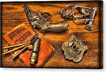 Ready For Duty - Police Officer Canvas Print by Lee Dos Santos