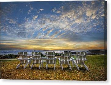 Ready For The Morning Canvas Print by Debra and Dave Vanderlaan