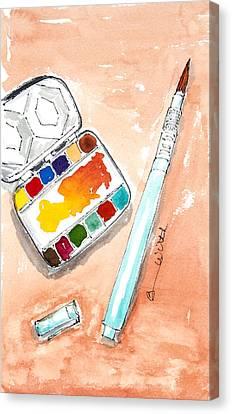 Ready Set Go Canvas Print by Barbara Wirth