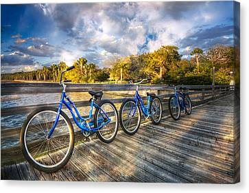 Ready To Ride Canvas Print by Debra and Dave Vanderlaan