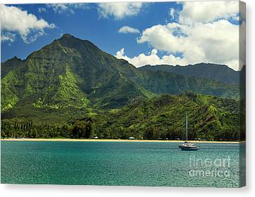 Ready To Sail In Hanalei Bay Canvas Print by James Eddy