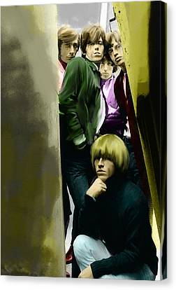 Real Exile The Brian Jones Rolling Stones  Canvas Print by Iconic Images Art Gallery David Pucciarelli