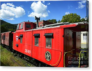 Really Red Caboose Canvas Print by Thomas R Fletcher