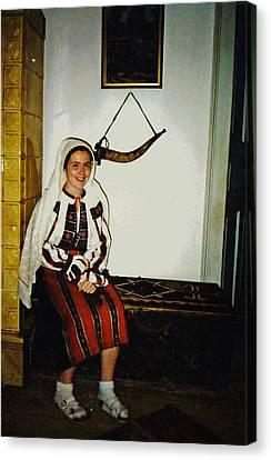 Rebekah In Romania Canvas Print by Sarah Loft