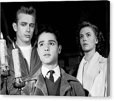 Rebel Without A Cause, From Left, James Canvas Print by Everett
