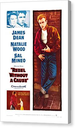 Rebel Without A Cause, Us Poster Art Canvas Print by Everett