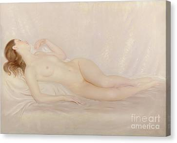 Reclining Nude Canvas Print by Edward Stanley Mercer