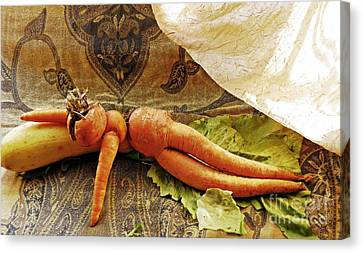 Reclining Nude Carrot Canvas Print by Sarah Loft