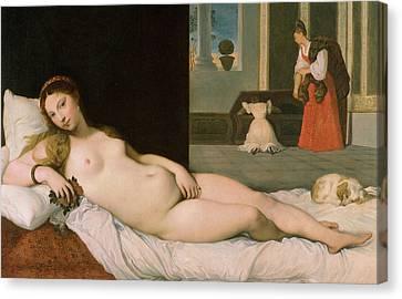 Reclining Venus Canvas Print by Ingres