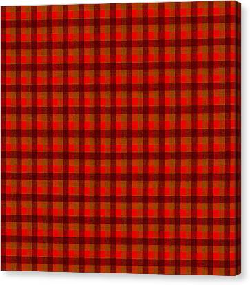 Red And Black Checkered Tablecloth Cloth Background Canvas Print by Keith Webber Jr