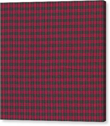 Red And Black Plaid Pattern Textile Background Canvas Print by Keith Webber Jr